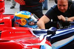 Sebastien Bourdais gets ready for run