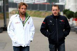Jenson Button, Honda Racing F1 Team y Sébastien Bourdais, Scuderia Toro Rosso