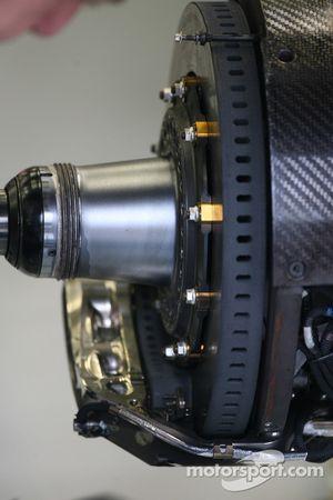 Sistema de disco de frenos de McLaren