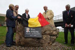 Monumento ceremonia de Paul Frere contó con Bernie Ecclestone, Presidente y Director Ejecutivo de Fo
