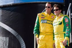 Jared Fogle for Subway hangs out with Tony Stewart