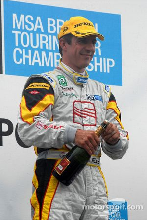 Jason Plato about to spray the champagne