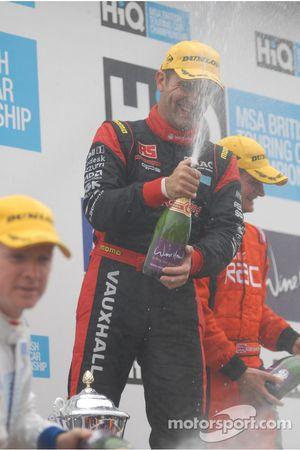 Fabrizio Giovanardi sprays the champagne