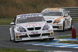 Andy Priaulx, BMW Team UK, BMW 320si WTCC and Felix Porteiro, BMW Team Italy-Spain, BMW 320si