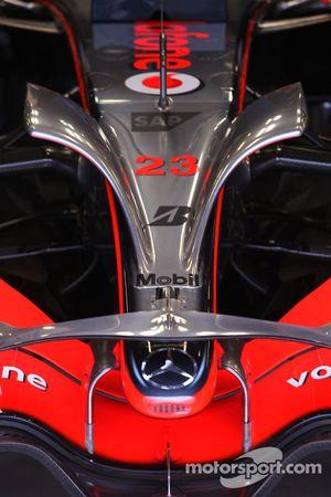 McLaren Mercedes detalle de ala delantera