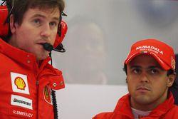 Felipe Massa, Scuderia Ferrari y Rob Smedly, Scuderia Ferrari, ingeniero de posta de Felipe Massa