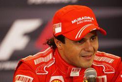 Conferencia de prensa posterior calificación: segundo lugar Felipe Massa