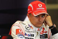 Conferencia de prensa posterior calificación: tercer lugar Heikki Kovalainen