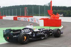 Nico Rosberg, WilliamsF1 Team, FW30, frenos en llamas