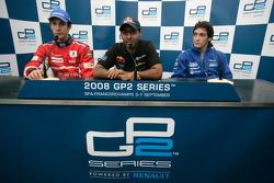 Karun Chandhok, Bruno Senna et Alvaro Parente