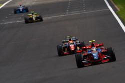 Bruno Senna devant Giorgio Pantano, Alvaro Parente et Andreas Zuber