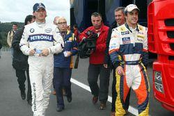 Robert Kubica, BMW Sauber F1 Team y Fernando Alonso, Renault F1 Team