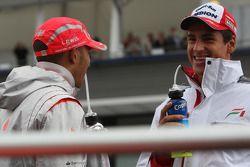 Lewis Hamilton, McLaren Mercedes y Adrian Sutil, Force India F1 Team