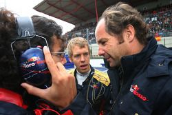 Sebastian Vettel y Scuderia Toro Rosso, Gerhard Berger, Scuderia Toro Rosso, equipo Co propietario