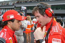 Felipe Massa, Scuderia Ferrari and Rob Smedly, Scuderia Ferrari, Track Engineer of Felipe Massa
