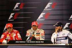 Conferencia de prensa después de la carrera: carrera ganador Lewis Hamilton, Felipe Massa el segundo