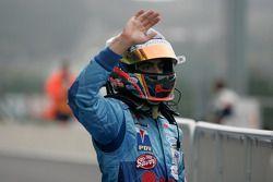 Pastor Maldonado fête sa victoire