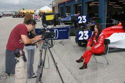 MTV interviewe Milka Duno