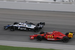 Marco Andretti and Justin Wilson run together