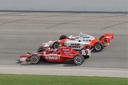 Scott Dixon and Ryan Briscoe run together
