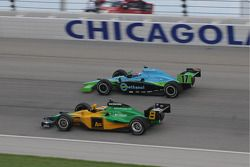 Will Power and Ryan Hunter-Reay run together