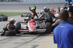 A.J. Foyt IV comes into the pits