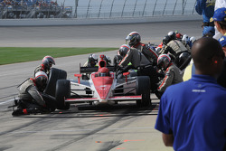 A.J. Foyt IV in the pits