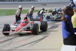 A.J. Foyt IV leaves the pits