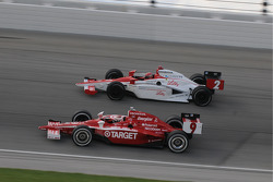 Scott Dixon and A.J. Foyt IV run together