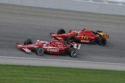 Scott Dixon and Justin Wilson run together