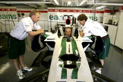 Riccardo Patrese dans la Honda RA107