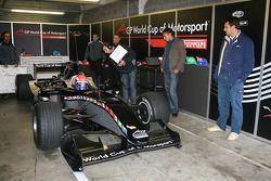 Thomas Biaggi testing the A1GP 'Powered by Ferrari' Car