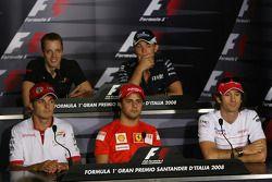 Conférence de presse FIA : Sébastien Bourdais, Scuderia Toro Rosso, Nico Rosberg, WilliamsF1 Team, Giancarlo Fisichella, Force India F1 Team, Felipe Massa, Scuderia Ferrari et Jarno Trulli, Toyota Racing