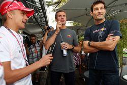Heikki Kovalainen, McLaren Mercedes, David Coulthard et Mark Webber, Red Bull Racing
