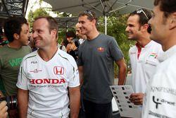 Rubens Barrichello, Honda Racing F1 Team, David Coulthard, Red Bull Racing et Vitantonio Liuzzi, Force India F1 Team