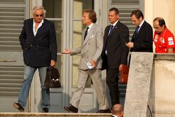 Meeting FOTA, Flavio Briatore, Renault F1 Team, Luca di Montezemolo, et Stefano Domenicali, Scuderia Ferrari