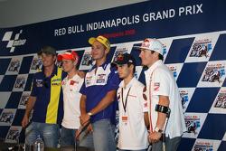 Conferencia de prensa: Colin Edwards, Casey Stoner, Valentino Rossi, Dani Pedrosa y Nicky Hayden