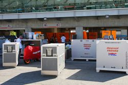 Gear for the Repsol Honda team of 2006 World Champion Nicky Hayden and Dani Pedrosa