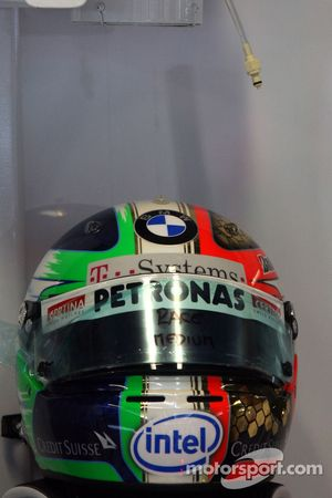 Le nouveau casque de Robert Kubica, BMW Sauber F1 Team