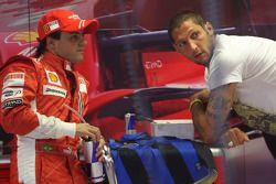 Felipe Massa, Scuderia Ferrari avec Marco Materazzi, footballeur italien de l'Inter Milan