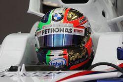 New design of the Helmet, Robert Kubica, BMW Sauber F1 Team