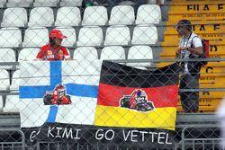 Des fans de Sébastien Bourdais et de Kimi Raikkonen