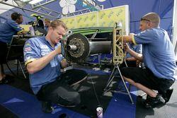 Super Nova Racing mechanics prepare the cars