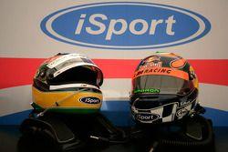 Les casques de Bruno Senna et de Karun Chandhok