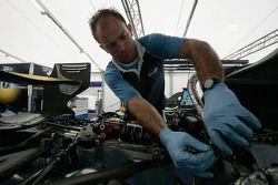 A Durango mechanic at work