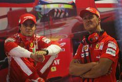 Felipe Massa avec Michael Schumacher, Scuderia Ferrari