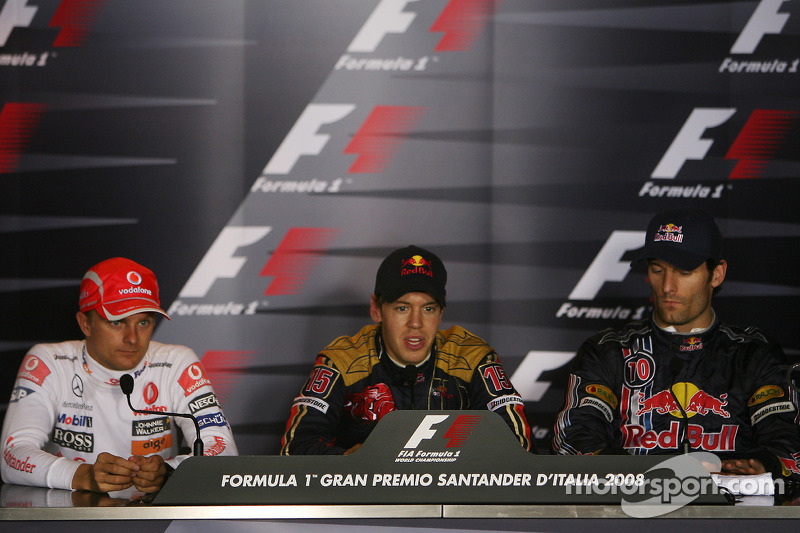 Press conference: pole winner Sebastian Vettel, second place Heikki Kovalainen, third place Mark Web