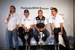 BBQ at FBMW Hospitality: Nico Rosberg, WilliamsF1 Team, Robert Kubica, BMW Sauber F1 Team, Christian Klien, BMW Sauber F1 Team et Dr. Mario Theissen, BMW Sauber F1 Team