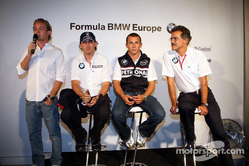 BBQ at FBMW Hospitality: Nico Rosberg, WilliamsF1 Team, Robert Kubica, BMW Sauber F1 Team Christian