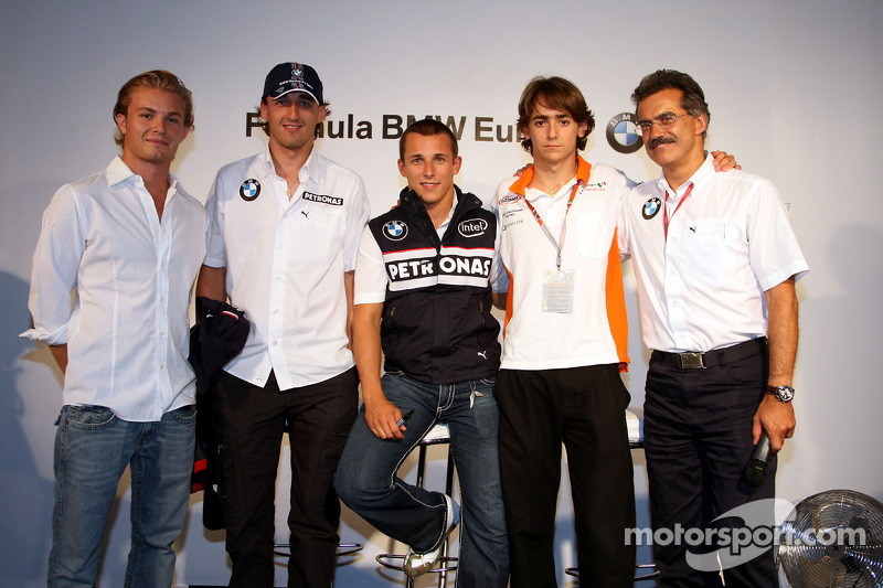 BBQ at FBMW Hospitality: Nico Rosberg, WilliamsF1 Team, Robert Kubica, BMW Sauber F1 Team Christian